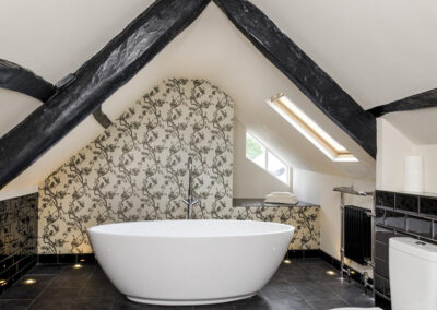One of the eight bathrooms at Newport Manor, Newport