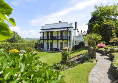The well manicured garden at Newport Manor, Newport