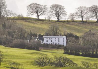 The rolling countryside surrounding Newport Manor, Newport