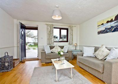 The living area at Nobbys Cottage, East Thorne, Kilkhampton