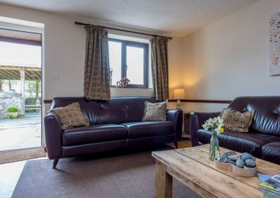 The living area at Nook Cottage, East Thorne, Kilkhampton