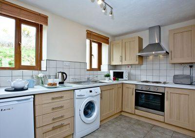 The kitchen at Nook Cottage, East Thorne, Kilkhampton