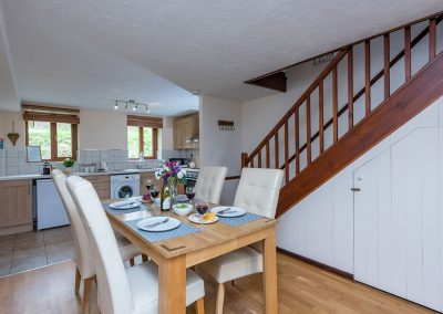 The dining area at Nook Cottage, East Thorne, Kilkhampton