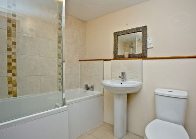 The bathroom at Nook Cottage, East Thorne, Kilkhampton