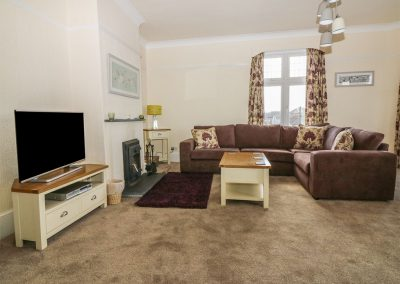 The living area at Number 39 Bude, Bude