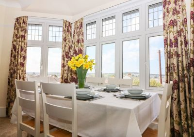 The dining area at Number 39 Bude, Bude