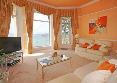 The living area @ Ocean Shangri-La, Bay Fort Mansions, Torquay