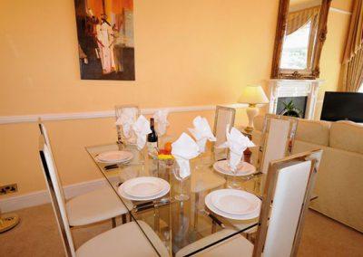 The dining area @ Ocean Shangri-La, Bay Fort Mansions, Torquay