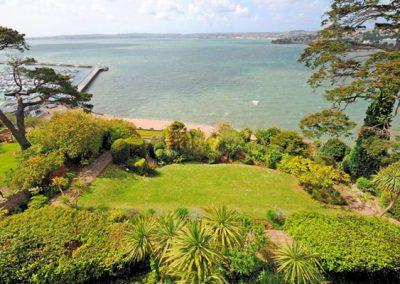 The communal garden @ Ocean Shangri-La, Bay Fort Mansions, Torquay