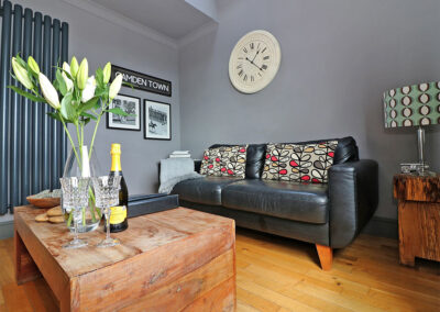 The living area at Ocean View, St Austell