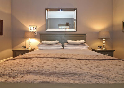The bedroom at Ocean View, St Austell