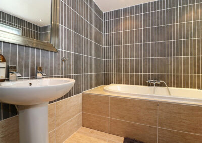 The bathroom at Ocean View, St Austell