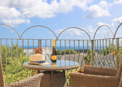 The balcony at Ocean View, St Austell