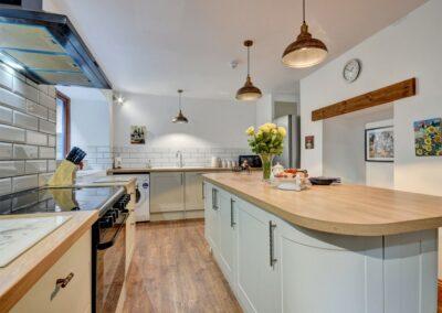 The kitchen at Oh My Sea, Lynton