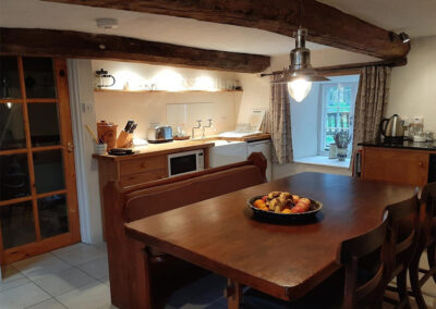 The kitchen & dining area at Old Church House, Brayford