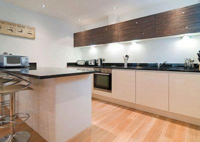 The kitchen @ Ollies 4, Cribbar, Newquay