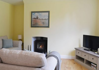 The living area at One Parkhayes, Woodbury Salterton