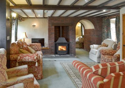 The second living area at Orchard Barn, Duvale Cottages, Bampton
