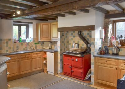 The kitchen at Orchard Barn, Duvale Cottages, Bampton