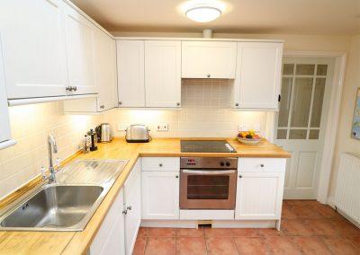 The kitchen at Oreo's Cottage, Goonvrea