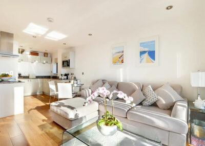 The living area at Over The Blue Sea, Saunton