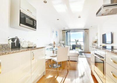 The kitchen at Over The Blue Sea, Saunton