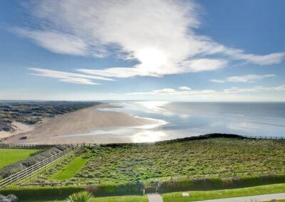 The far reaching beach view at Over The Blue Sea, Saunton