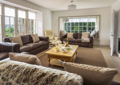 The living area at Oversteps House, Salcombe