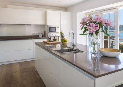 The kitchen at Oversteps House, Salcombe