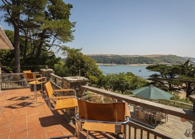 The terrace at Oversteps House, Salcombe