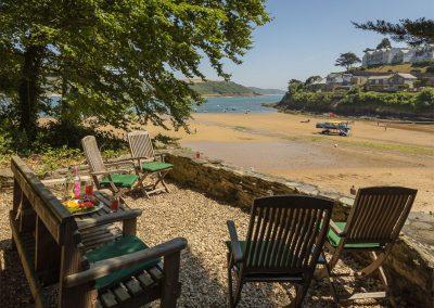 The Hobbit House beach house at Oversteps House overlooks South Sands Beach