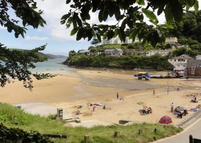 Two private paths from Oversteps House give easy access to South Sands Beach