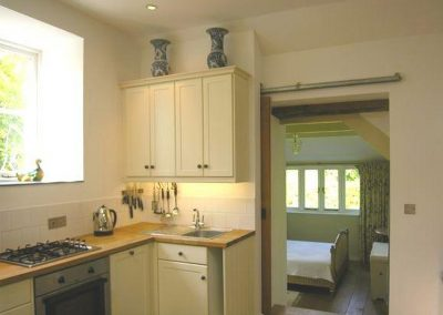 The kitchen at Owl House, Polmorla