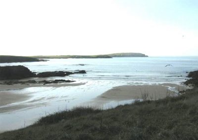 One of the beaches near to Owl House, Polmorla