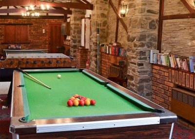 The games room is just one of the many onsite facilities at Trimstone Manor Cottages, Trimstone