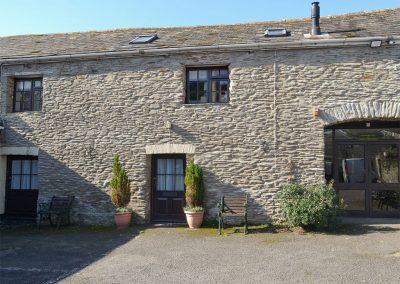 Outside Paddock Cottage, Trimstone Manor Cottages, Trimstone
