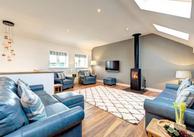 The living area at Padstow Country Barn, Trenance