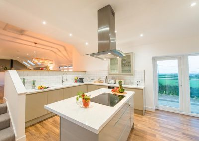 The kitchen at Padstow Country Barn, Trenance