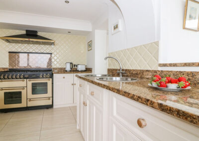 The kitchen at Panoramic Cottage, Brixham
