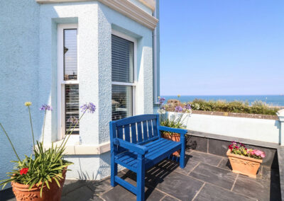 The front terrace at Panoramic Cottage, Brixham