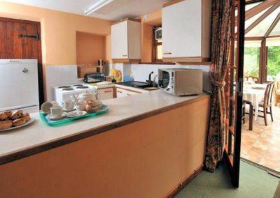 The kitchen @ Park Mill Farm Cottage
