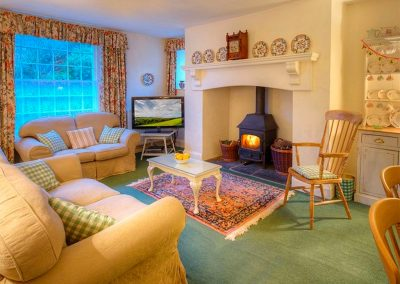 The breakfast room & living area at Parnacott, Chilsworthy