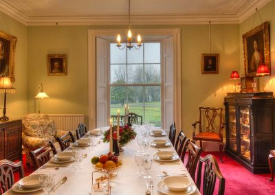 The dining room at Parnacott, Chilsworthy