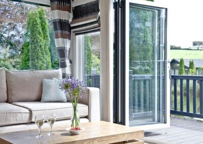 The living area at Parracombe Lodge, Kentisbury Grange, Kentisbury