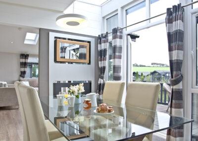 The dining area at Parracombe Lodge, Kentisbury Grange, Kentisbury