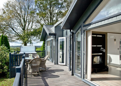 The wrap-around deck at Parracombe Lodge, Kentisbury Grange, Kentisbury