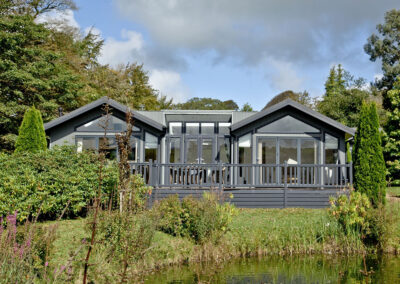 The garden & lake at Parracombe Lodge, Kentisbury Grange, Kentisbury