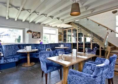 The fabulous onsite restaurant & bar at Kentisbury Grange, Kentisbury
