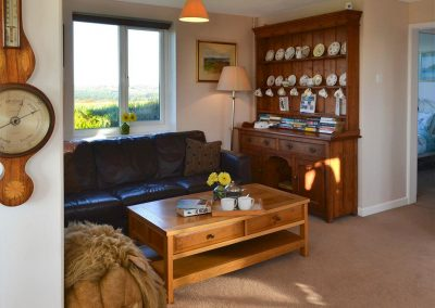 The living area at Parsley Cottage, Clawton