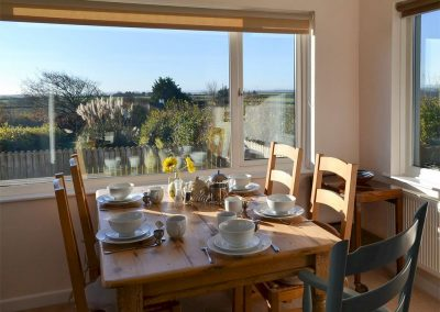 The dining area at Parsley Cottage, Clawton